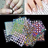 #4: Sherlocker 30 Sheet 3D Mix Color Floral Design Nail Art Stickers Decals Manicure Beautiful Fashion Accessories Decoration