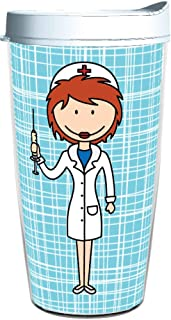 product image for Smile Drinkware USA-NURSE FEMALE CAUCASION 16oz Tritan Insulated Tumbler With Lid and Straw