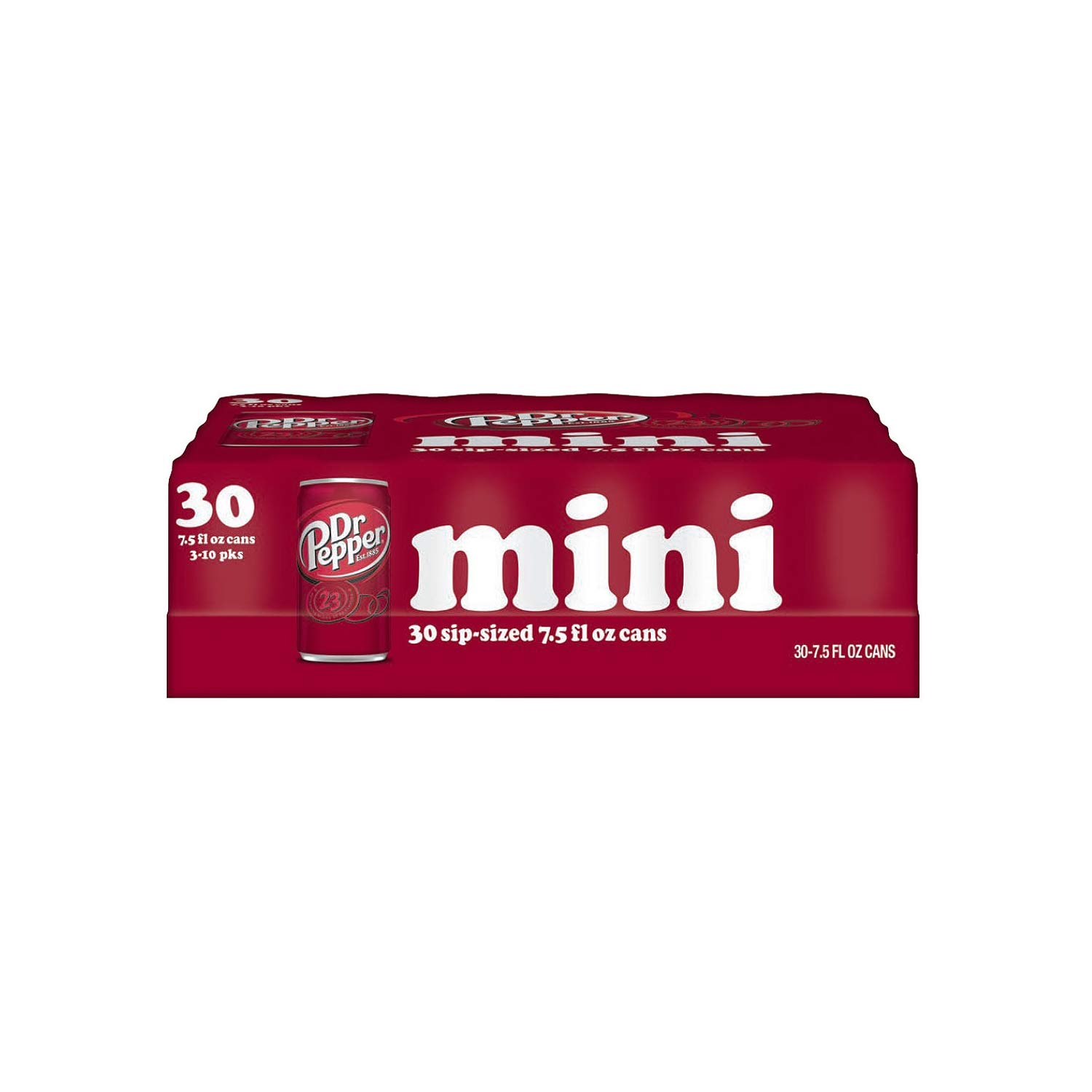 Dr. Pepper Mini Cans (7.5 Fluid Ounce, 30 Pack)