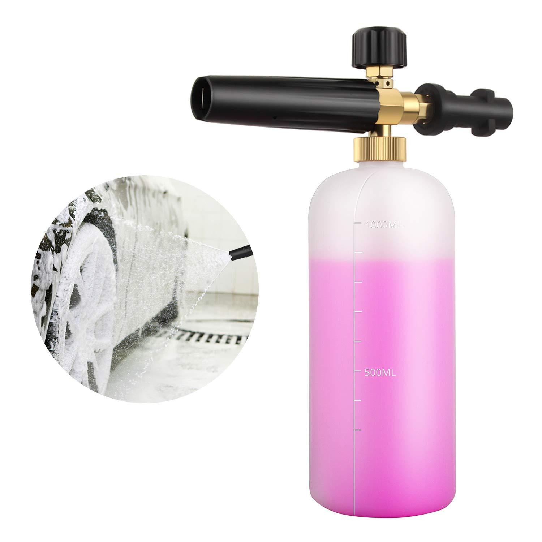 Adjustable Foam Cannon Snow Gun Lance Nozzle Soap Dispenser for Karcher Pressure