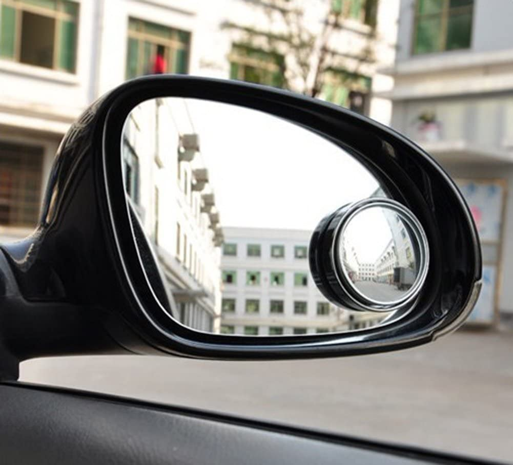 Silver ASTRQLE 1 Pair 360 Circular Wide View Adjustable Car Automobile Blind Spot Mirror Rearview Mirror Side Mirror Reflector Viewfinder Auxiliary Parking Tools