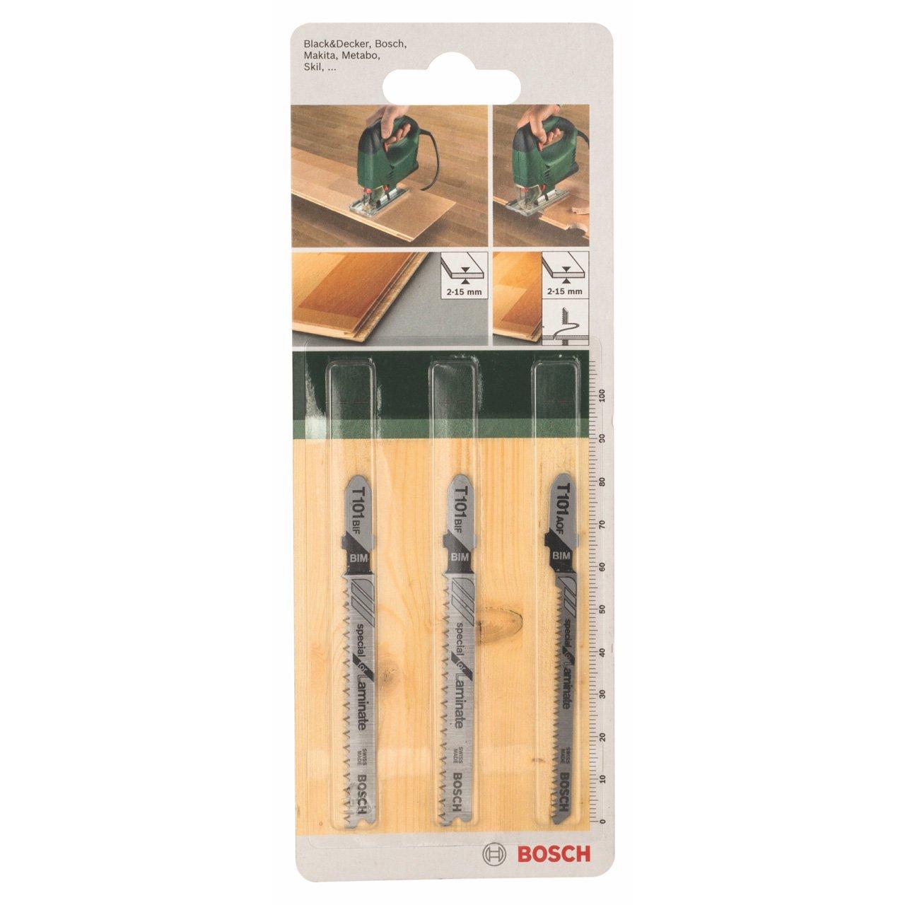 Bosch 2609256788 Assortiment de lames de scie sauteuse Bois 3 pièces