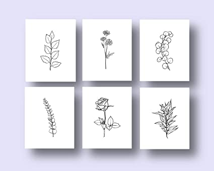 Amazon Com Ink Inc Botanical Prints Sprigs And Leaves
