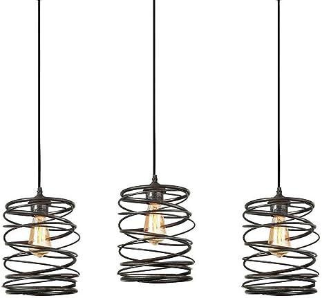 Amazon Com Track Lighting Pendants 3 Pack Island Edison Hanging Lights Height Customizable Kitchen Light Ceiling Pendant Fixtures Modern Industrial Vintage Lamp Bulb Included Home Improvement