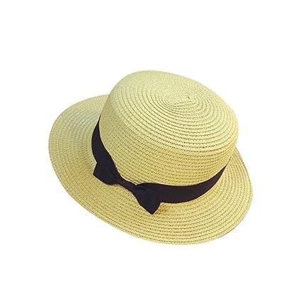 ZARLLE Sombrero De Paja ala Ancha Paja Bowknot Transpirable Sombrero  Sombreros para El Sol del Verano c00cfbb04302