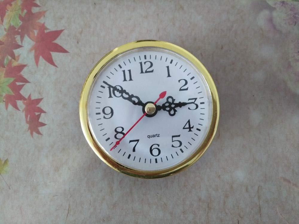 Maslin 2PCS Gold Insert Quartz Clock FIT-UP Diameter 80mm Insert Clock for DIY Clock Accessories