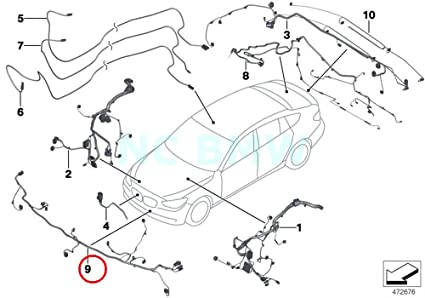 Amazon Com Bmw Genuine Front End Wiring Harness Automotive