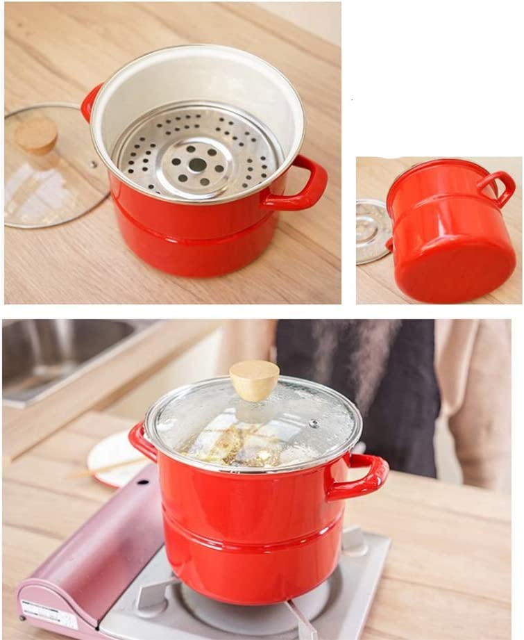 Cookware bottom cast iron, Thick enamel soup pot, high non-stick pan, non-stick pan, adapt to gas stove, induction cooker, electric ceramic stove-22CM