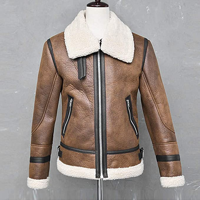 Amazon.com: Men Fur Coat, Malbaba Silm Fit Leather Outwear Zipper Front Chic Winter Coat: Clothing
