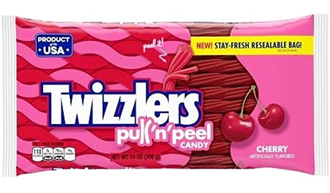 Amazon.com: Twizzlers Pull n Peel Candy - Cereza 14 oz ...