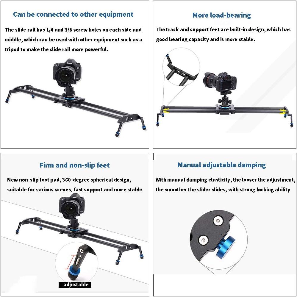 Slider Carbon Fiber Camera Track 6 Bearings Maximum Load 10kg Video Recording for Mobile Phones SLR Cameras DV Cameras Easy to Carry Video Stabilizer