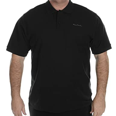 c5eab075 Pierre Cardin Mens Designer Polo Shirt Plus Big Sizes Plain Short Sleeve  Casual T Shirt Top Tennis Golf Gym Everyday Sports King Size Classic  Collared ...