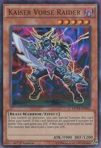 Ultra Rare 1st Ed MVP1-EN002 Kaiser Vorse Raider