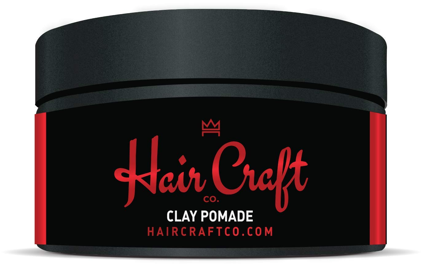 Hair Craft Co. Clay Pomade 3oz - Shine Free Matte Finish - Medium Hold/Natural Look - Best Men's Styling Product, Barber Approved - Ideal for Textured, Thickened & Modern Hairstyles - Unscented by Hair Craft Co.