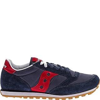 Saucony Originals Men's Jazz Low Pro Classic Retro Sneaker, Navy/Red, 11 M US