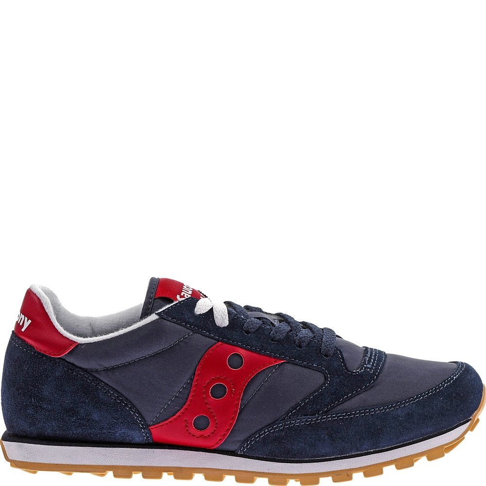 Saucony Originals Men's Jazz Low Pro Classic Retro Sneaker, Navy/Red, 10 M US