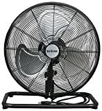 Hurricane Floor Fan - 18 Inch | Pro Series | High Velocity | Heavy Duty Metal Floor Fan for Industrial, Commercial, Residential, and Greenhouse Use - ETL Listed, Black
