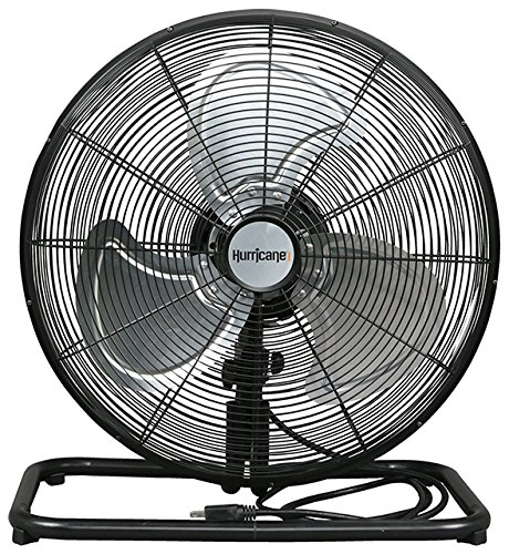 Hurricane Floor Fan - 18 Inch | Pro Series | High Velocity | Heavy Duty Metal Floor Fan for Industrial, Commercial, Residential, and Greenhouse Use - ETL Listed, Black by Hurricane