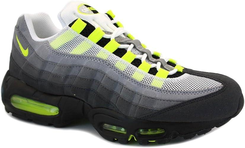 arrebatar Reino cocinar  Nike Air Max 95 OG 554970 174 Mens Trainers White Yellow - 9: Amazon.co.uk:  Shoes & Bags