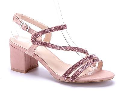 Sandalen Damen Sandaletten Blockabsatz Schuhtempel24 Schuhe JclKF1