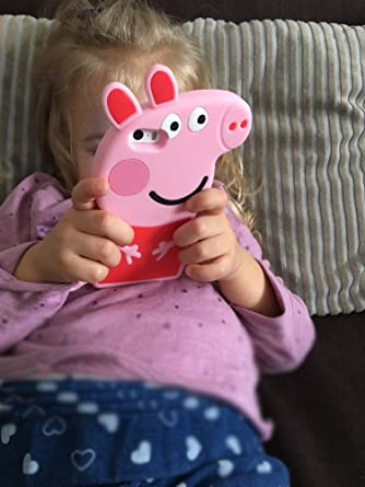 3D Cartoon Animal Peppa Pig Case Soft Silicone Rubber Phone Case for iPhone X Xs 5.8