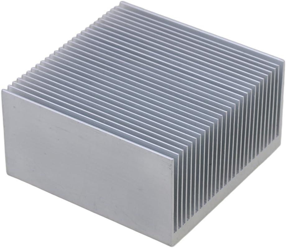 Yibuy Cooling Fin Aluminium Radiator Heatsink Heat Diffuse Silver 69x69x36mm