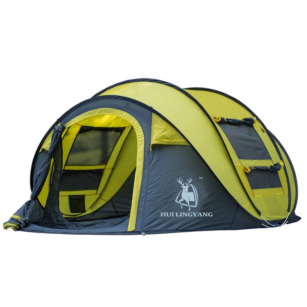 Outtw Nuevo diseño diseñado para Acampar, Caminar y Pescar, Apto para 3-4 Adultos (Color : Azul)