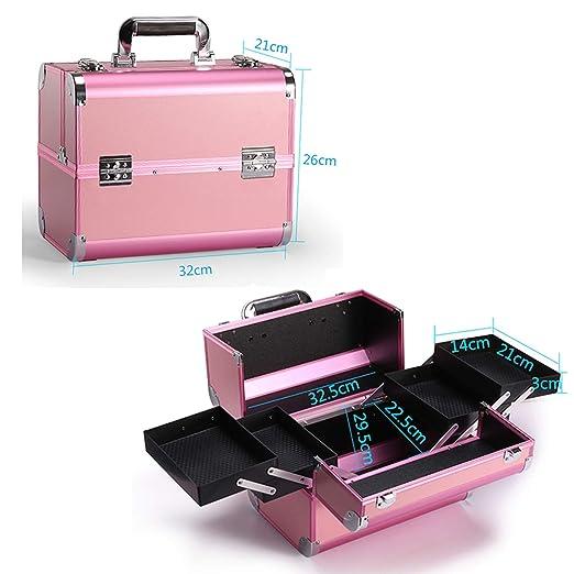 Amazon.com: Neceser portátil profesional para cosméticos de ...