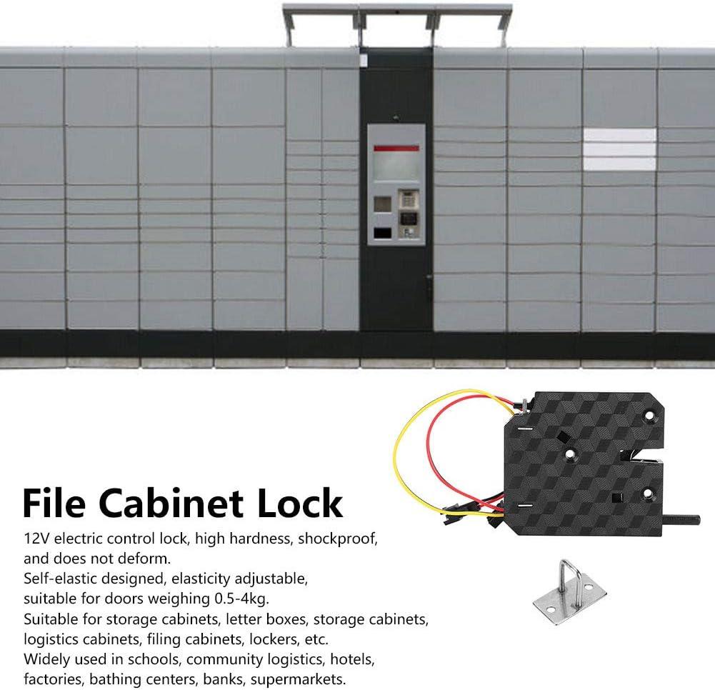File Cabinet Lock 2.9x2.6in Easy Installation Electric Door Control Lock ABS Shockproof for Schools Hotels Factories Supermarkets