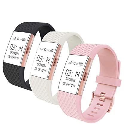 Wearlizer Compatible with Charge 2 Bands Accessories Silicone Strap  Replacement Charge 2 Special Edition Lavender 3 Pack