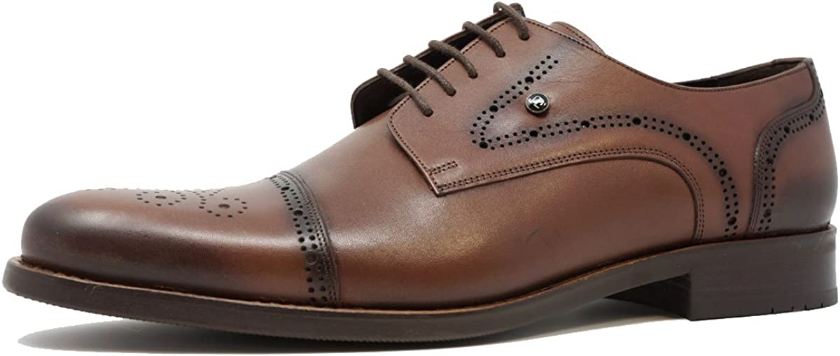 Zep Shoes Oxford Genuine Leather Goodyear Welted Cap Toe Handmade Dress Shoes