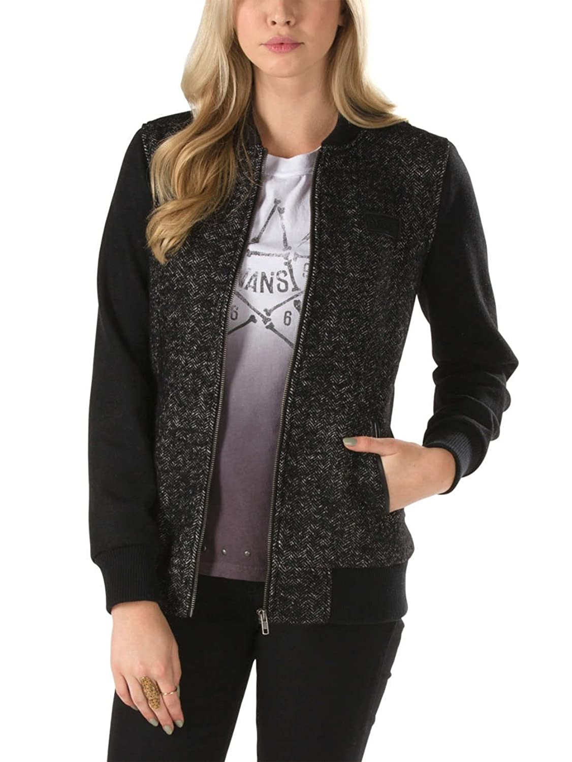 Amazon.com: Vans Womens Route 99 Varsity Jacket 047 S: Clothing