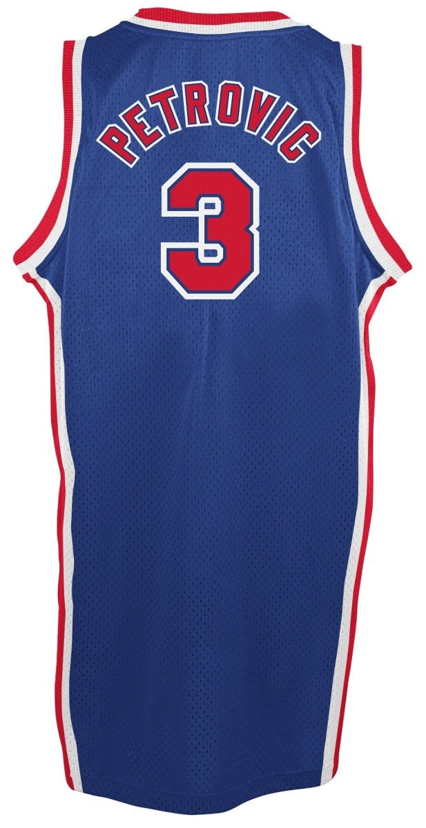 Adidas drazen Petrovic New Jersey Nets NBA Throw Back Swingman Maillot Camiseta - Blue, Small: Amazon.es: Deportes y aire libre