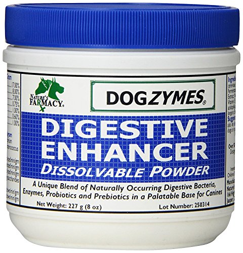 - DOGZYMES Dissolvable Powder Digestive Enhancer for Dogs, 8-Ounce