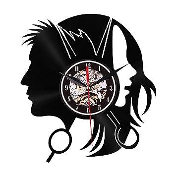 Hli-SHJHsmu - Reloj de Pared de Goma Envejecida para Cocina, Estilo silencioso para un Reloj Creativo Que no se dobla: Amazon.es: Hogar