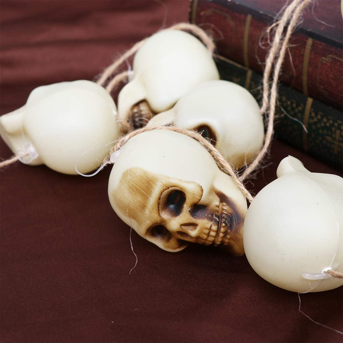 Amosfun Halloween H/ängender Sch/ädel Halloween H/ängender Skelettschmuck Haunted House Prop