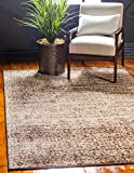 Unique Loom Autumn Collection Rustic Casual Warm Toned Beige Area Rug (2′ x 3′)