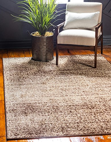 Unique Loom Autumn Collection Rustic Casual Warm Toned Beige Area Rug (5' x 8')