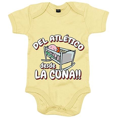 Body bebé Del Atlético desde la cuna fútbol - Amarillo, 6-12 meses