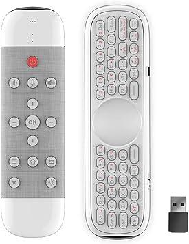 Docooler Q40 Ratón de Aire Micrófono de Control Remoto por Voz 2.4G Inalámbrico con Aprendizaje por Infrarrojos Mini Teclado Giroscopio Compatible con H96 MAX X88 Pro Android TV Box PC: Amazon.es: Electrónica