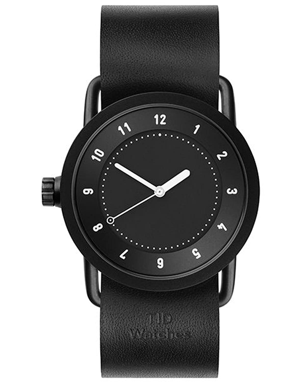TID No.1 36 Black-Natural Leather horloge 10210105