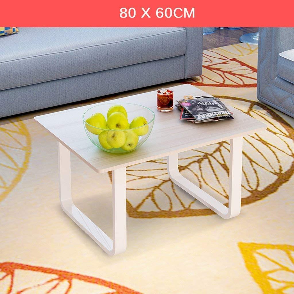QYM モダンリビングローテーブルコーヒーテーブルシープルオフィスローテーブルスクエア80 * 60 c (Color : D)  D B07RTTVKFK