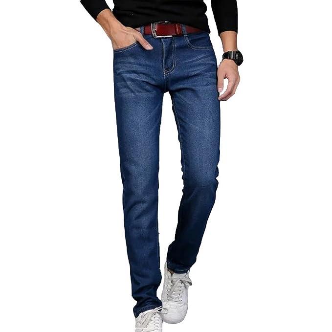 ROBO Hombre Vaquero Pantalones Cómodo Chico Jeans Primavera Casual