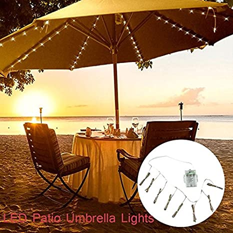 Umbrella String Lights Battery Operated String Lights For Outdoor