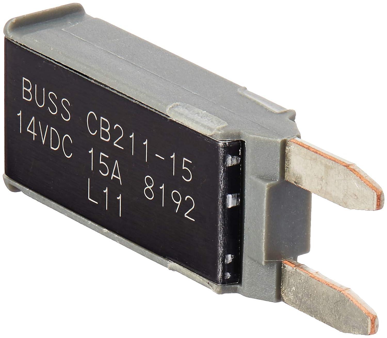 15 Amp 1 Pack BUSCB21115 Bussmann CB211-15 Type I ATM Footprint Automotive Circuit Breaker