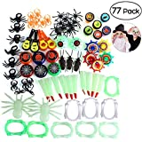 Halloween Toys Assortment with Fake Spiders, Hand Clappers, Stamps, Dentures and etc - Perfect for Halloween Party Bag Fillers