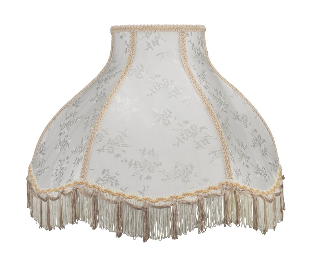 Aspen Creative 30043 Transitional Scallop Bell Shape Spider Construction Lamp Shade in Beige, 17'' wide (6'' x 17'' x 12'')