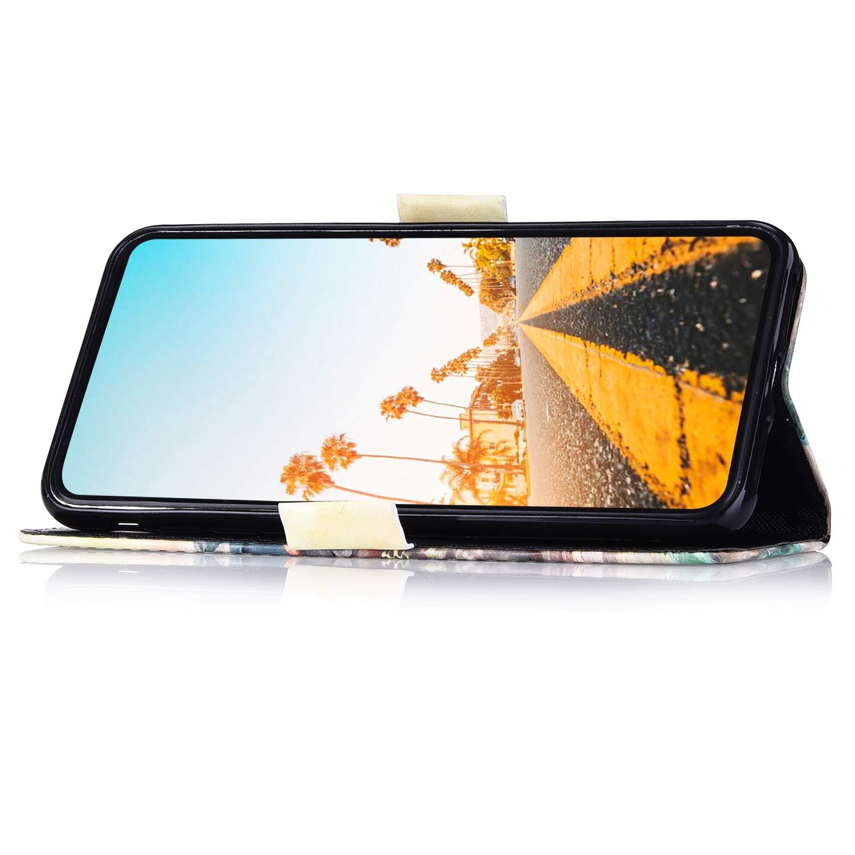 Hpory Kompatibel mit Galaxy S7 H/ülle Samsung Galaxy S7 Handyh/ülle Foto Muster PU Leder mit Handschlaufe Standfunktion Geldb/örse Wallet Case Flip Cover Etui Schutzh/ülle Ledertasche Katze Paar