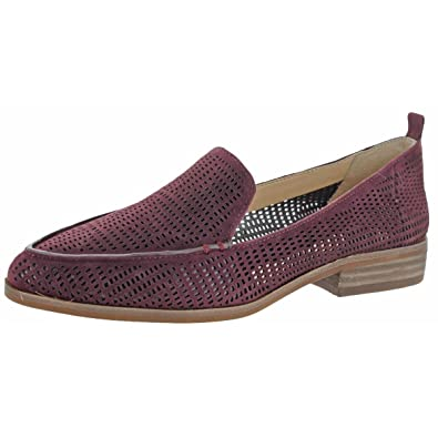 266af89918b Vince Camuto Womens Kade Almond Toe Stacked Heel Loafers Purple 5 Medium (B