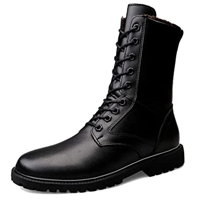 hot product latest fashion hot-selling fashion Amazon.com | Moonwalker Genuine Leather Lace Up Military ...